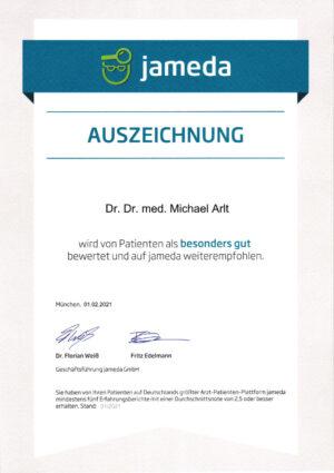 Jameda Auszeichnung 2-2021